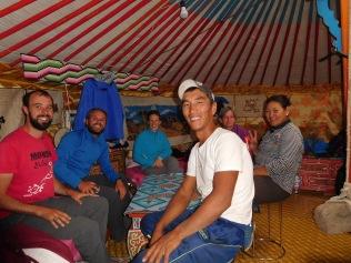 Partie de belote mongole