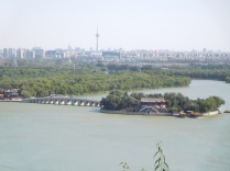 Ile du palais d'été et vue sur Pékin