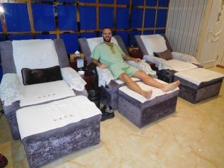 La séance massage