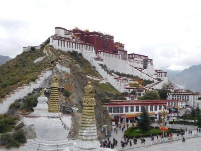 Vue du Potala comme sur le billet de 50 yuan