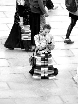 Tibétaine en tenue traditionnelle