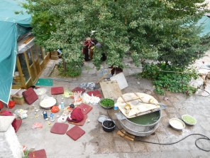 Cuisine pour l'ensemble des moines du temple