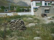 Stupa de bouse pour conserver au sec