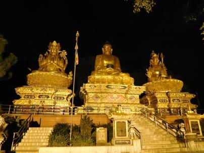 Sakyamuni, Avalokitesvara et Guru Rinpoche