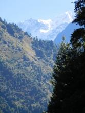 1ère vue sur les sommets enneigés (Manaslu)