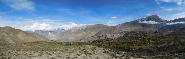 Vue de Muktinath et alentours