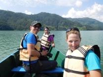 Avec Mathieu et Tamara sur le lac