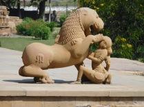 Saroual, créature mythique moitié lion, moitié homme