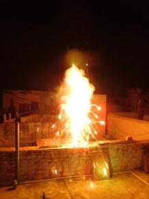 Début des feux d'artifice