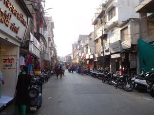 Vue des rues du centre d'Udaipur