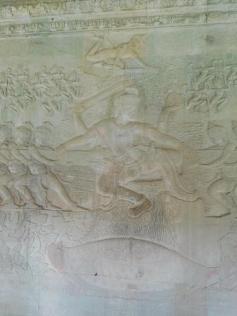 Vishnu au-dessus de la tortue