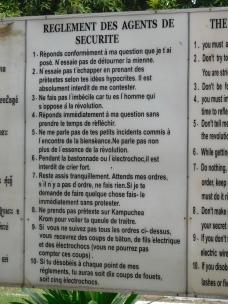 Les 10 règles appliquées aux prisonniers