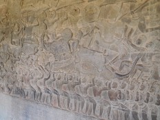 Scène du Ramker à Angkor Wat