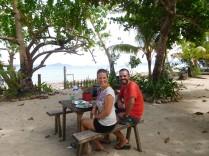 Pause déjeuner face à la mer