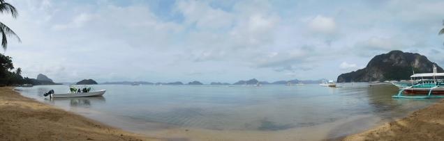 Vue 360° de la baie de Corong Corong