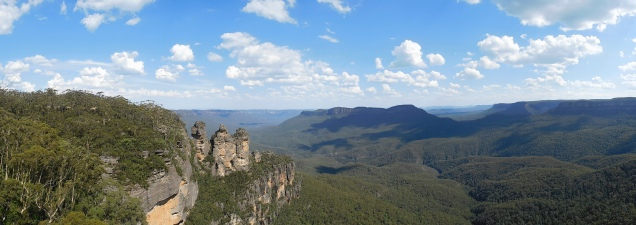 Vue panoramique sur les 3 sisters
