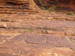 Ridules datant de l'époque où le canyon était au fond de l'océan