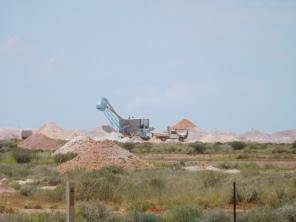 Les mines en activité vus de l'extérieur
