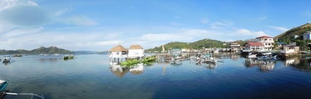 Vue depuis l'hôtel sur la baie de Coron