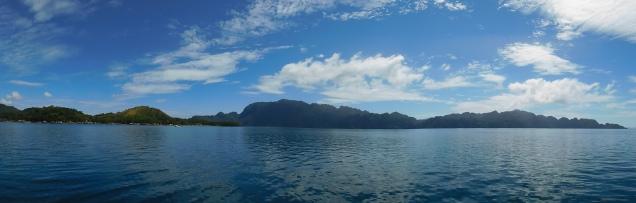 Vue sur l'île de Coron