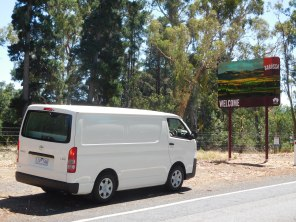 Arrivée dans la Barossa Valley à bord de notre campervan