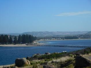 Vue de Granite Island sur Victor Harbour