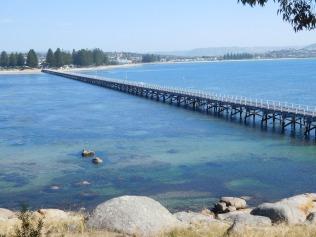 Le pont qui mène à Granite Island