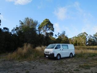 Camping sauvage près de Lavers Hill