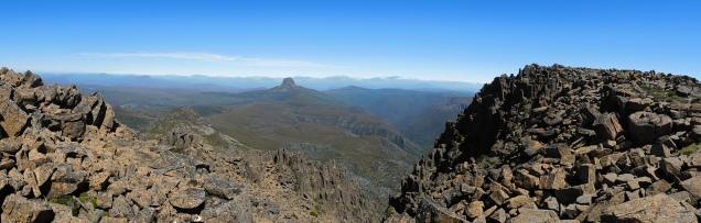 vue sur le 2ème sommet de Tasmanie, le Mont Barn Bluff