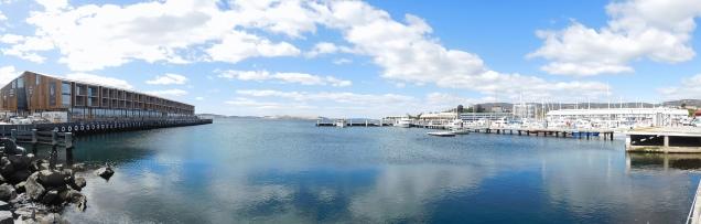 Vue panoramique du port d'Hobart