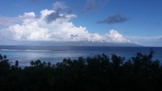 Vue sur Tahiti de Moorea