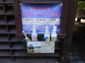 Mise en place de zones de décontamination
