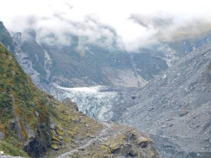 Vue sur le glacier Fox