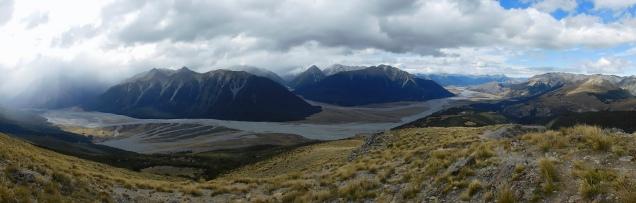 Vue panoramique sur la vallée