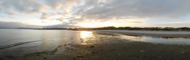 Coucher de soleil au nord de l'île du Sud