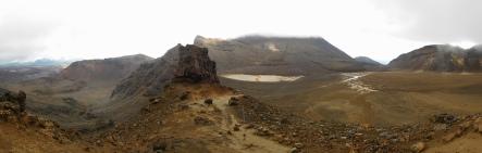 Le cratère sud avant le retour de la pluie