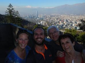 En haut du Cerro San Cristobal
