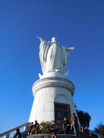 La vierge au sommet du Cerro