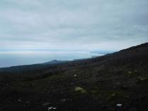 Vue du lac depuis le volcan