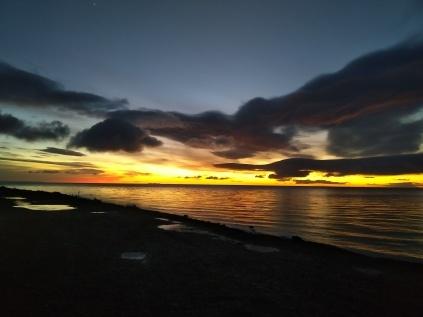 Lever de soleil à Punta Arenas