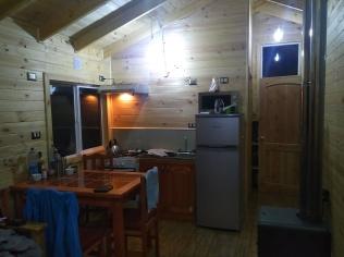 intérieur de notre cabaña