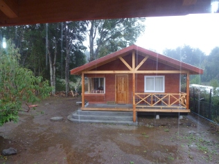 Extérieur de la cabaña sous la pluie...