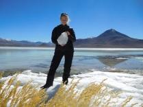 Laguna blanca gelée