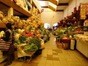 Etal de légumes & paniers