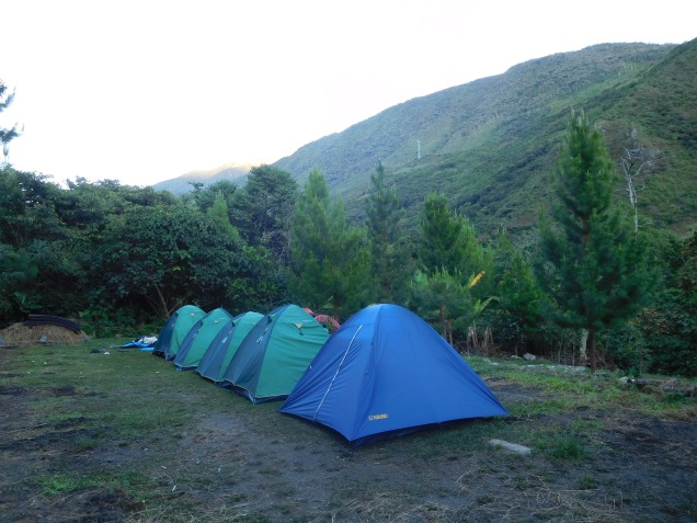 Nos tentes pour la nuit