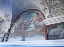 Détail d'une fresque du cloître